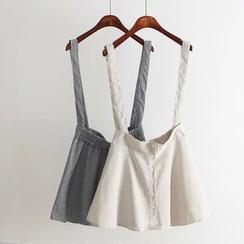 Aigan - 千鸟格背带裙