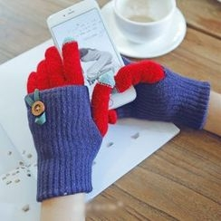 Lose Show - Color-Block Touchscreen Gloves