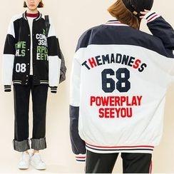 Heynew - Lettering Baseball Jacket