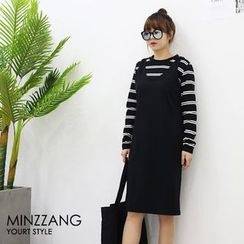 Seoul Fashion - Round-Neck Jumper Dress