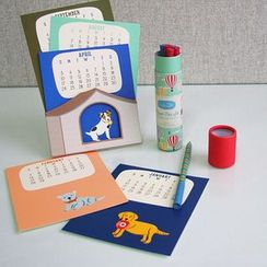 BABOSARANG - Animal Illustration Desk Calendar (S)