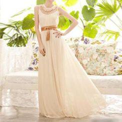 財神 - 通花連身長裙