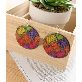 Petit et Belle - Multicolor Disc Earrings
