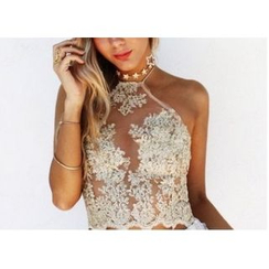 Dream a Dream - Lace Halter Top