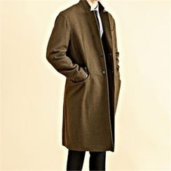 THE COVER - Double-Breasted Dual-Pocket Coat