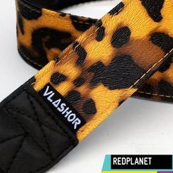 Vlashor - 黄底豹纹相机带