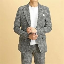 THE COVER - Peaked-Lapel Single-Breasted Checked Jacket
