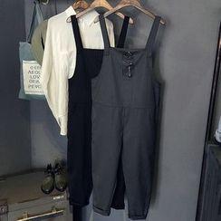 芷蓯夕 - 細條紋背帶褲