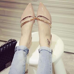 SouthBay Shoes - Pointy Cutout Flats