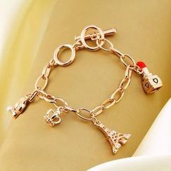 Trend Cool - Multi-Charms Chain Bracelet