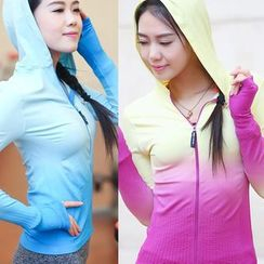 Girasol - Sport Gradient Hooded Jacket