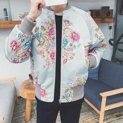 Dubel - 印花拉鍊夾克