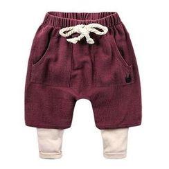Kido - 儿童假两件短裤内搭裤