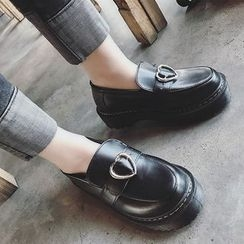 Hipsole - Chunky-Heel Platform Buckled Loafers