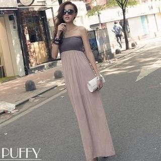 PUFII - Strapless Maxi Dress