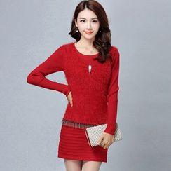 Rosehedge - Long-Sleeve Sheath Knit Dress