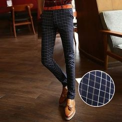 Fusuma - Plaid Slim Fit Pants