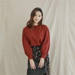 Styleberry - Balloon-Sleeve Knit Top
