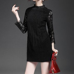 Alaroo - Long-Sleeve Lace Panel Dress