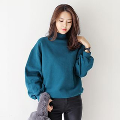 WITH IPUN - Cotton High-Neck Sweatshirt
