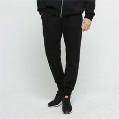 BYMONO - Neoprene Brushed-Fleece Lined Sweatpants