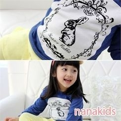 nanakids - Girls Dip-Back Rabbit Print Pullover