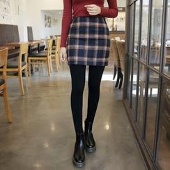Envy Look - Check A-Line Mini Pencil Skirt