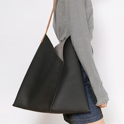 Heynew - Set: Faux Leather Shopper Bag + Zip Pouch