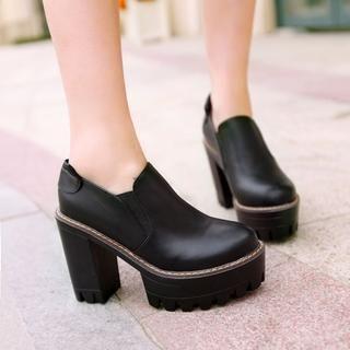 Pangmama - Chunky Heel Ankle Boots