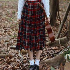 Ashlee - Plaid Midi Skirt
