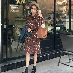 HL哈喽妹妹 - 碎花长袖连衣裙