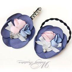 Rosebush - Flower Hair Clip / Hair Tie