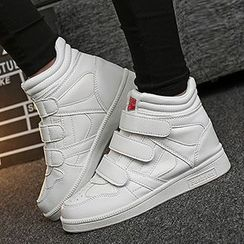 Muyu - Velcro High-top Sneakers