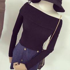 Honeydew - Off Shoulder Knit Top