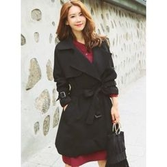 LOLOten - Snap-Button Trench Coat with Sash