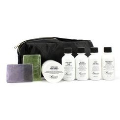 Baxter Of California - Travel Kit: Face Wash + Shave Formula + Moisturizer + Shave Balm + Shampoo + 2x Cleansing Bar + Bag