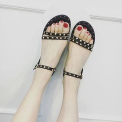 Zapatos - Studded Flat Sandals
