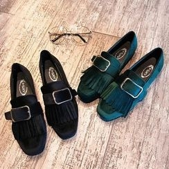 SouthBay Shoes - Fringed Loafers