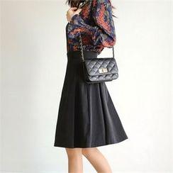 Styleberry - Pleated A-Line Skirt