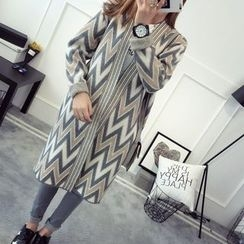 Hibisco - Chevron Long Cardigan