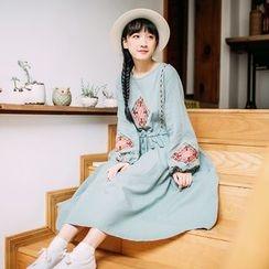 Rainie - Long-Sleeve Embroidered Dress
