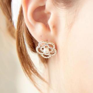 Tokyo Fashion - Beaded Rhinestone Flower Earring