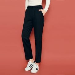HOTPING - Flat-Front Dress Pants