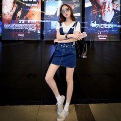 Dabuwawa - Denim Suspender Skirt