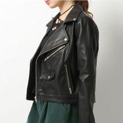Pluvio - Faux Leather Biker Jacket