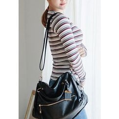 REDOPIN - Round-Neck Striped Top