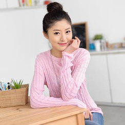 59 Seconds - Cable Knit Top