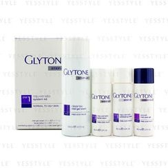 Glytone - Rejuvenate System Kit: Gel Wash 200ml + Facial Lotion 60ml + Exfoliating Lotion 60ml + Peel Gel 60ml  (Normal to Oily Skin)