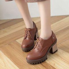TULASI - Chunky Heel Oxfords
