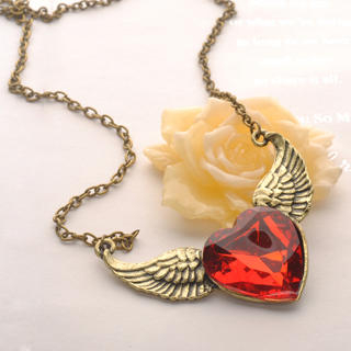 Fit-to-Kill - Wings Red Diamond Necklace